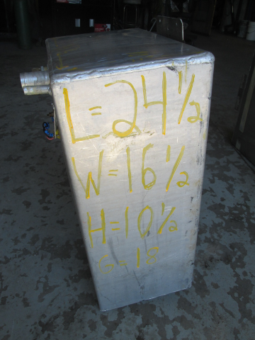 Aluminum Marine Boat Gas Tank Fuel Cell 18 Gallon 24 5 Quot X
