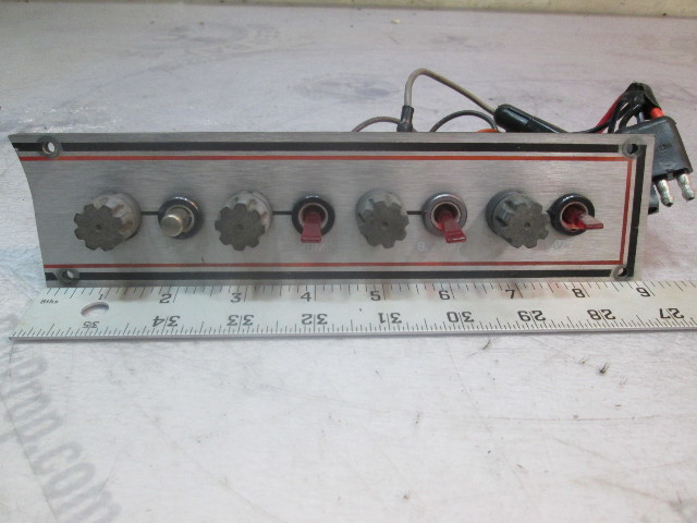 1980's Rinker Dash Panel Switches Section Horn Pump Blower Nav Lights