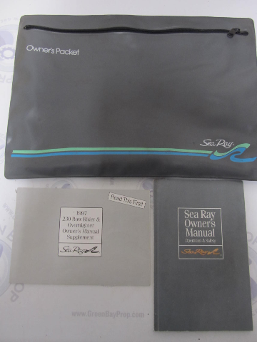Sea Ray Sport Cruiser Boat Owner's Manual & 1997 230 Bow Rider Supplement