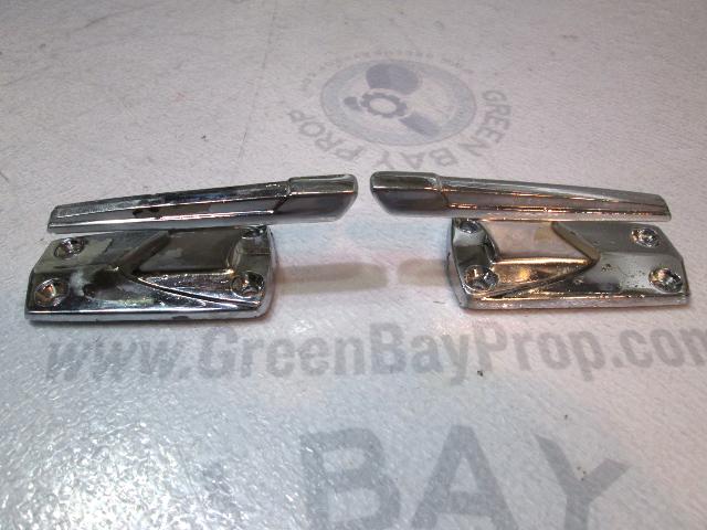 "Vintage Chrome 4"" Boat Cleat (Set of 2)"
