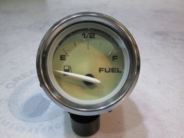 "Bayliner Boat Fuel Gauge 2"" Gold Face Chrome Bezel"