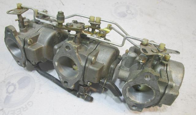 384178 384179 384180 Evinrude Johnson Outboard 60 HP Carb Carburetor Set 1970-71