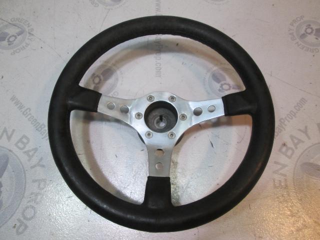 """Nuova Raid 14"""" Boat Steering Wheel 3 Spokes 3/4"""" Tapered Shaft"""