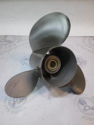 "48-16321A4 Quicksilver Stainless Prop 13 1/2"" X 23P Mercury V6 & V8 15 Spline LH"