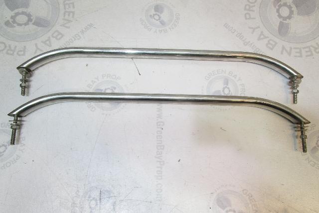 "1990 Chaparral 1900 SL Boat Rear Stern Rail Grab Bar Handle Set 24"" Long"