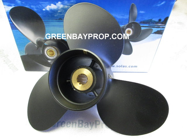 AMITA3 (A) 9.25 X 11 Pitch Propeller for Johnson Suzuki 8, 9.9-15 HP Outboards