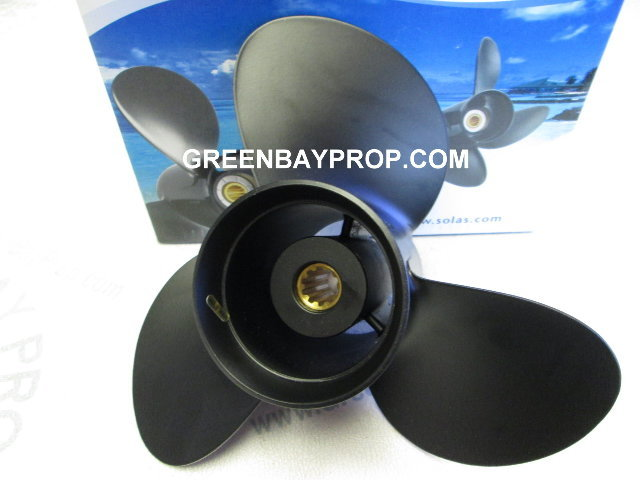 10.1 X 13 Pitch Propeller for Johnson 4-stroke & Suzuki 25-30 HP Outboards