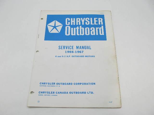 OB977 1966-67 Chrysler Outboard Service Manual 6 & 9.2 HP