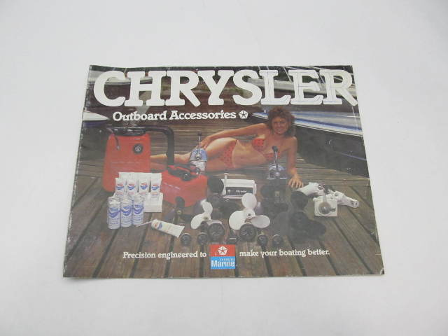 SL-402 Vintage Chrysler Marine Outboard Accessories Parts Catalog Early 1980s