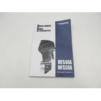 003-11105-3AF2 2016 Outboard Owner's Operating Manual for Tohatsu MFS40A/50A