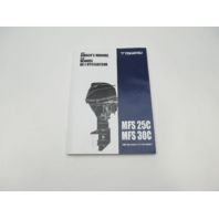 003-11118-2AG1 2017 Outboard Owner's Operating Manual for Tohatsu MFS25C/30C