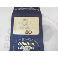 011397 Tillotson Carburetor Main Fuel Jet .067 with Gasket