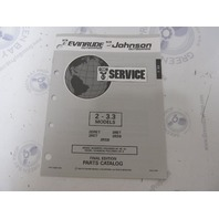 115393 1993 OMC Evinrude Johnson Outboard Parts Catalog 2-3.3 HP
