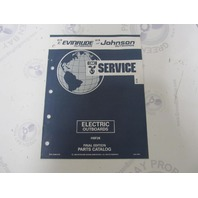 115956 1992 OMC Evinrude Johnson Electric Outboard Parts Catalog HBF2K