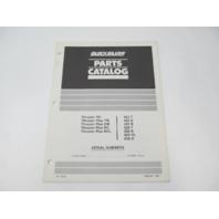 90-13285 1985 Quicksilver Parts Catalog Mercury Thruster Electric Trolling Motors