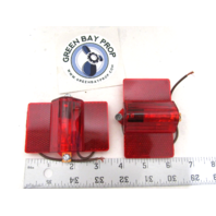 202R2R Submersible Boat Trailer Red Combo Side Marker Light / Reflector Lexan