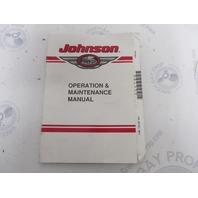 2000 Johnson 90/115 Hp V4 Outboard Owner Operation & Maintenance  Manual