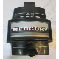 2182-7927A5 Mercury 45 50 Hp Oil Injected Outboard Front Cowl Cover Black Silver