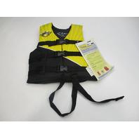 Evolution Yellow/Black CHILD VEST 30-50 lbs Life Jacket