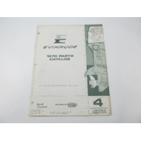 279267 OMC Evinrude Outboard Parts Catalog 4 HP 1970 Lightwin Yachtwin