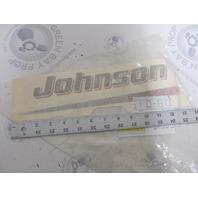 BRP/OMC 0350285 350285 Johnson STBD Motor Cover Logo 3-3.5 HPDecal
