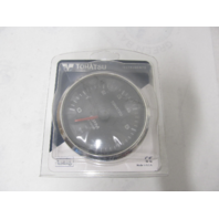 3NV726380M Black Tachometer w/Oil Lamp Gauge for Nissan Tohatsu Outboards