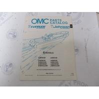 433774 1990 OMC Evinrude Johnson Outboard Parts Catalog 4 HP & 3BR