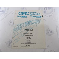 433775 1990 OMC Evinrude Johnson Outboard Parts Catalog 4 HP Excel Ultra