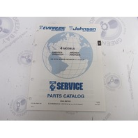 434231 1991 OMC Evinrude Johnson Outboard Parts Catalog 4 HP