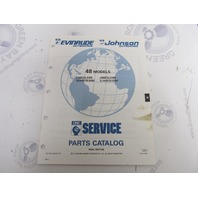 434243 1991 OMC Evinrude Johnson Outboard Parts Catalog 48 HP