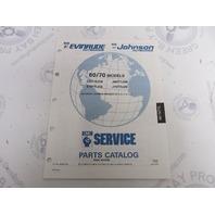 434245 1991 OMC Evinrude Johnson Outboard Parts Catalog 60-70 HP TTL