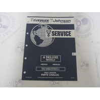 434972 1992 OMC Evinrude Johnson Outboard Parts Catalog 4 Deluxe