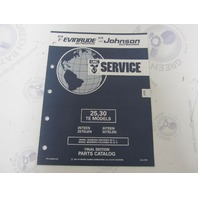 434980 1992 OMC Evinrude Johnson Outboard Parts Catalog 25-30 HP TE