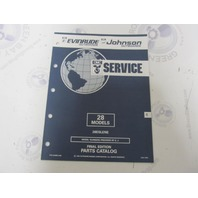 434985 1992 OMC Evinrude Johnson Outboard Parts Catalog 28 HP