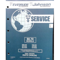434988 1992 OMC Evinrude Johnson Outboard Parts Catalog 60-70 HP