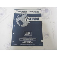 435012 1992 OMC Evinrude Johnson Outboard Parts Catalog 48 50 HP