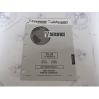 435868 1993 OMC Evinrude Johnson Outboard Parts Catalog 25-30 HP TE