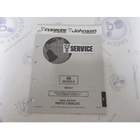 435875 1993 OMC Evinrude Johnson Outboard Parts Catalog 48 HP