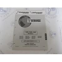 435884 1993 OMC Evinrude Johnson Outboard Parts Catalog 120 125 140