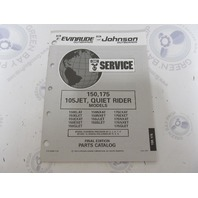 435887 1993 OMC Evinrude Johnson Outboard Parts Catalog 150/175 HP 105JET