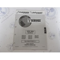 435892 1993 OMC Evinrude Johnson Outboard Parts Catalog 250-300 HP