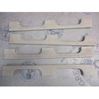 Lot of 4 Four Winns 180 Horizon White Plastic Grab Handle Rail 1 3/4 X 16 1/2