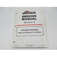 90-44553 1293 Mercury Mercruiser #8 Marine 4 CYL Engine Service Repair Manual