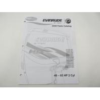 5007793 BRP Evinrude E-Tec Outboard Parts Catalog 40-65 HP 2-Cyl 2009