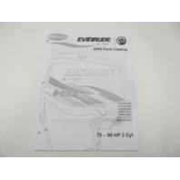 5007795 BRP Evinrude E-Tec Outboard Parts Catalog 75-90 HP 3-Cyl 2009