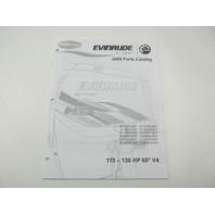 5007796 BRP Evinrude E-Tec Outboard Parts Catalog 115-130 HP V4 2009