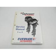 "503145 Evinrude Johnson Outboard Service Manual ""EO"" 2-8 HP 1995"
