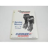 "503149 Evinrude Johnson Outboard Service Manual ""EO"" 50-70 HP 1995"