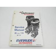 "503150 Evinrude Johnson Outboard Service Manual ""EO"" 85-115 HP 90 Deg CV 1995"
