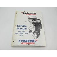"503151 Evinrude Johnson Outboard Service Manual ""EO"" 90-175 HP 60 Deg LV 1995"